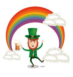 leprechaun saint patrick day character vector image