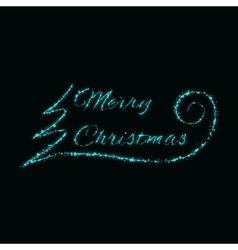 Merry Christmas signs of lights vector image