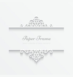 Paper frame vector image