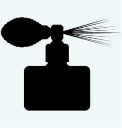 Perfume spray bottle vector