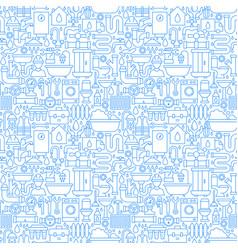 plumber line seamless pattern vector image