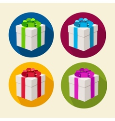 present boxes collection Flat Design vector image