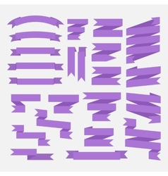 Purple ribbons set vector