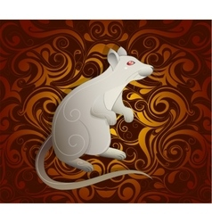 Rat as symbol for year 2020 vector image