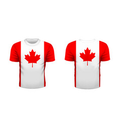 realistic sport t-shirt with canada flag from vector image