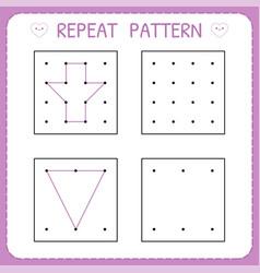 Repeat pattern worksheet for kindergarten and vector