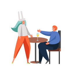 restaurant business people flat isolated vector image