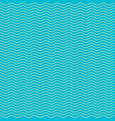 seamless pattern with waves blue and white summer vector image