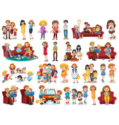 Set family character vector