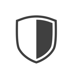 shield icon placed on white background vector image