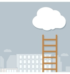 staircase into the clouds vector image
