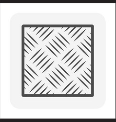 Steel floor or checker plate icon design vector