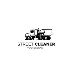 street cleaner vector image
