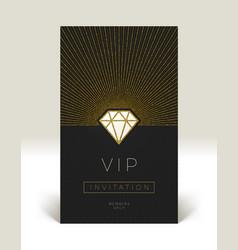 Template vip invitation vector