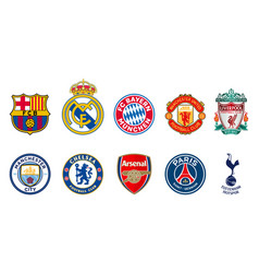 Top 10 most valuable football clubs in world vector