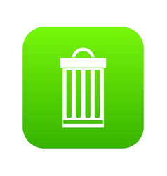 trash can icon digital green vector image