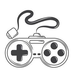 Video game controller device for console sketch vector