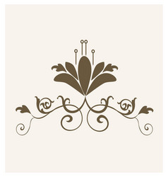 vintage flower design symbol vector image