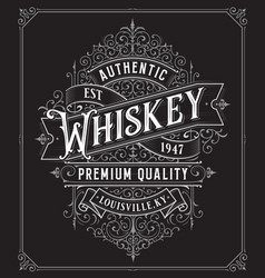 vintage whiskey style frame boarder vector image
