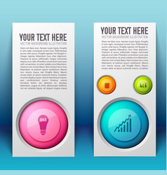 Web business infographic vertical banners vector