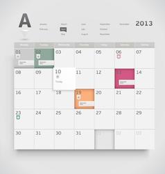 Web calendar vector