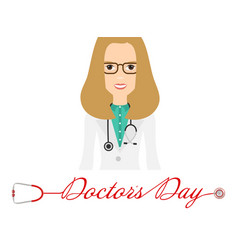 world doctor s day logo with stethoscope and vector image