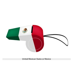 A Whistle of The United Mexican States vector image