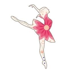 Ballet dancer vintage vector image vector image