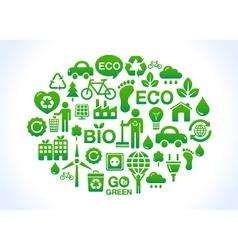 Eco friendly world- icons set vector
