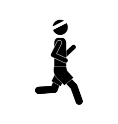pictogram man jogging icon design vector image