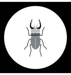 simple black longhorn beetle black icon eps10 vector image