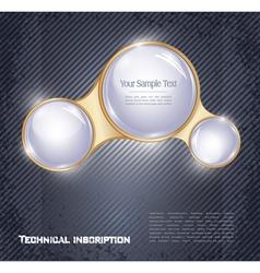 three glass balls vector image vector image