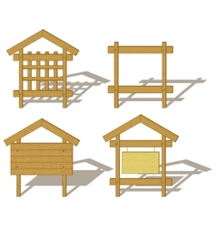wood billboards vector image vector image