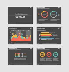 business presentation templates with infographic vector image vector image