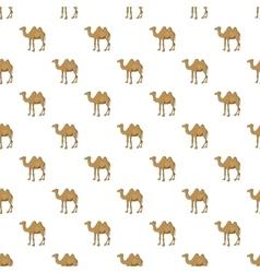 Camel pattern cartoon style vector image