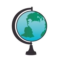 globe map world vector image