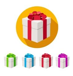 present boxes set Flat Design vector image vector image