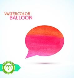 Watercolor Balloon vector image vector image