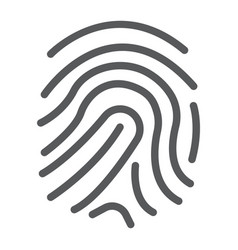 finger print line icon development and business vector image vector image
