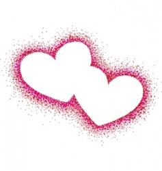 hearts illustration vector image vector image