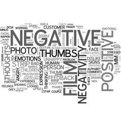 negativity word cloud concept vector image vector image