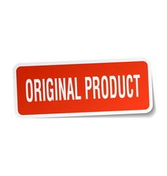original product square sticker on white vector image vector image