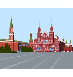 Red Square Moscow vector image vector image