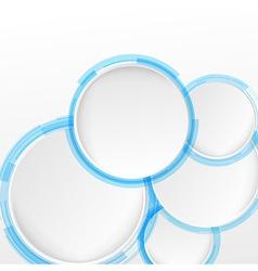 Bright blue circle design elements vector image vector image