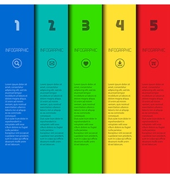 Colorful infographic template vector image vector image