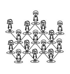 figure people team job icon vector image