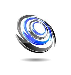 Futuristic Orbit Logo vector image