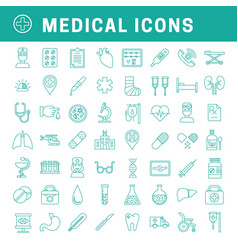 linear medical icons vector image