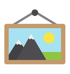 picture in frame flat icon vintage and decor vector image
