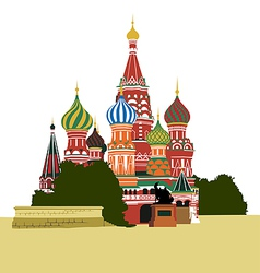 St Basils Cathedral on Red square vector image